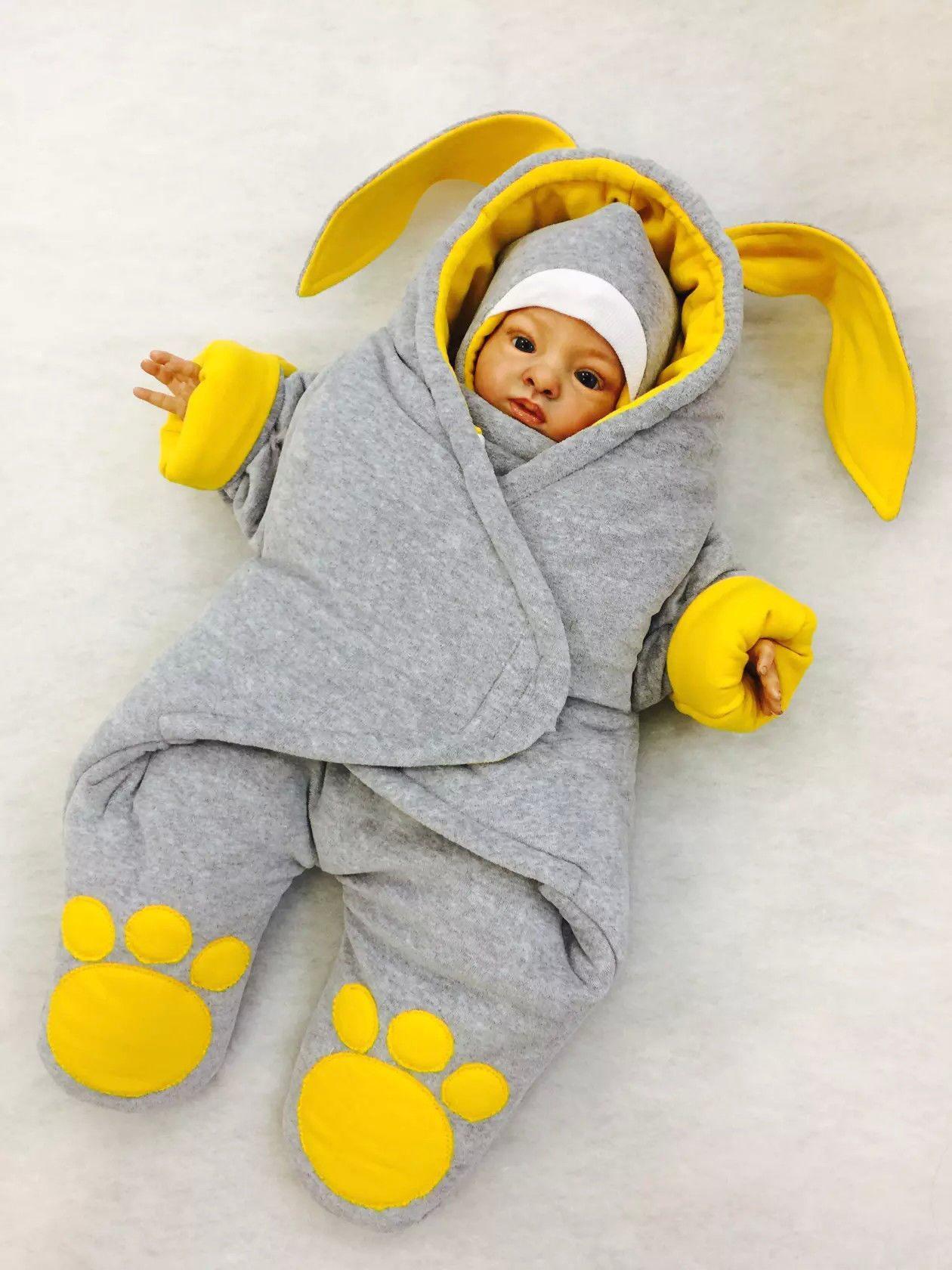 Зимние комбинезоны для новорожденных сшить своими руками